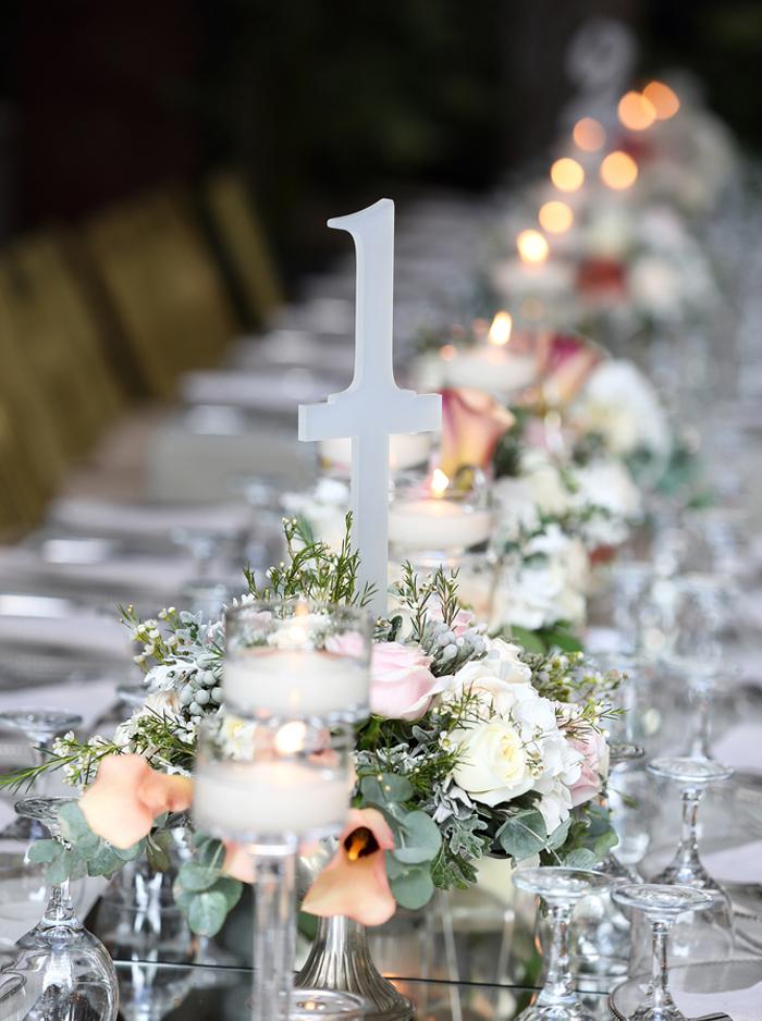 ウエディング装花 流しテーブルコーディネート