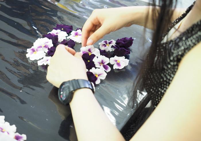 アーティフィシャルフラワー ビオラの花