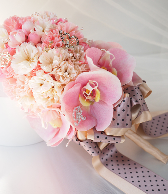 桜のウエディングブーケ
