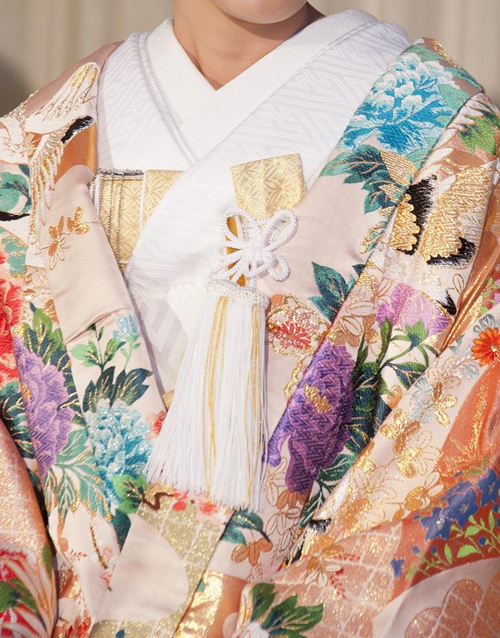 和装婚 菊柄の着物